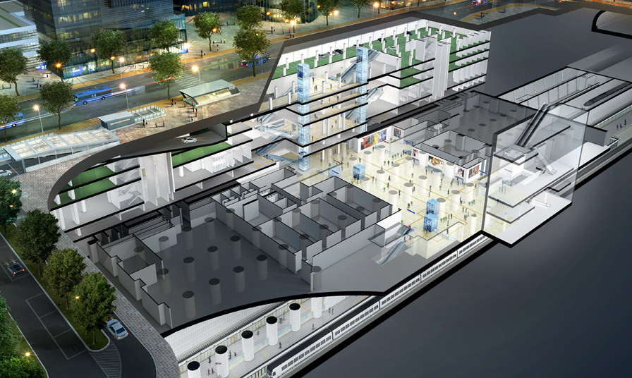 dongtan station 3D whole view1